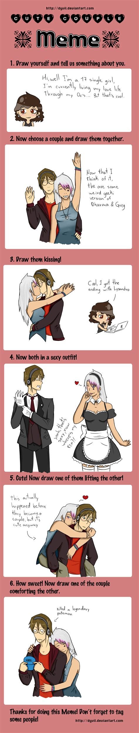 Memes For Couples - cute couple meme vincentxnicole by naty1995 on deviantart