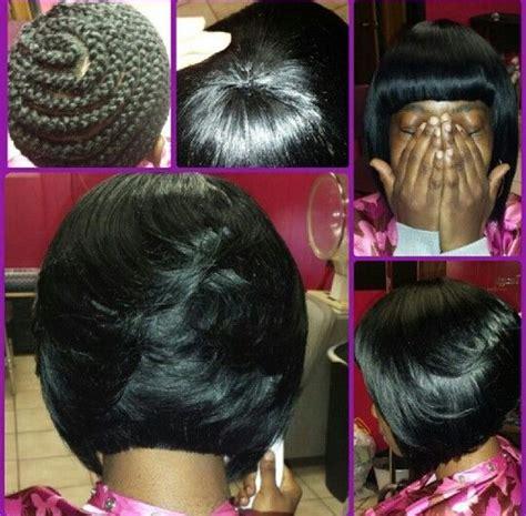 angled bob sew in bob full sew in hair by michelleb pinterest sew