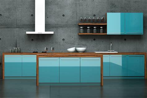 blaue küche wandgestaltung k 252 che rot