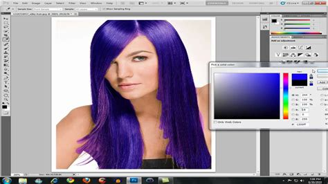 photoshop cs5 tutorial remove background hair how to change hair color in photoshop cs5 youtube
