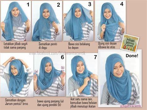 tutorial hijab bawal pin by at wisy on hijab tutorial pinterest