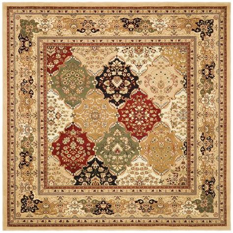 8 Foot Square Area Rugs Safavieh Lyndhurst Multi Black 8 Ft X 8 Ft Square Area Rug Lnh221c 8sq The Home Depot