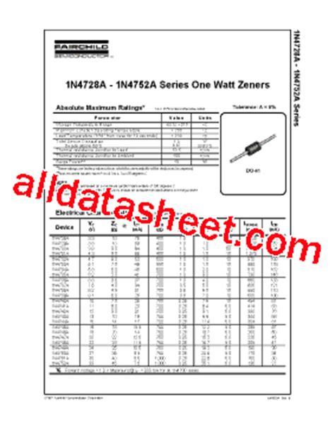 1n4746a zener diode datasheet 1n4746a datasheet pdf fairchild semiconductor