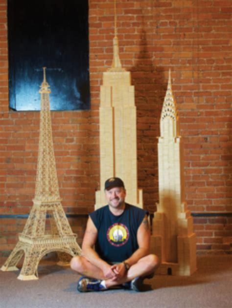 armchair traveler constructs toothpick world woodshop news