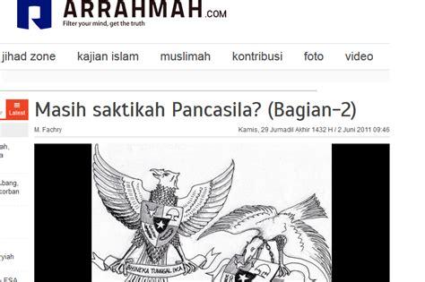 membuat artikel pancasila situs anti pancasila itu bernama arrahmah com jurnal islam