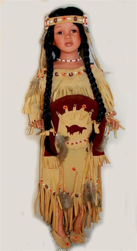 porcelain doll american indian goldenvale american indian large porcelin doll