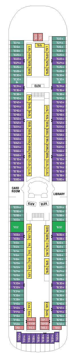rhapsody of the seas deck plan 7 international cruise rhapsody of the seas deck plan