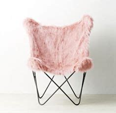faux fur butterfly chair gray gray fur rific hang a chair pbteen bedroom