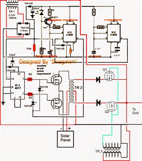 grid tie inverter diagram 100va to 1000va grid tie inverter circuit