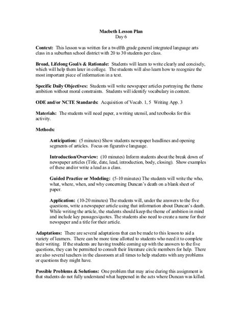 ode lesson plan template generous ode lesson plan template contemporary resume