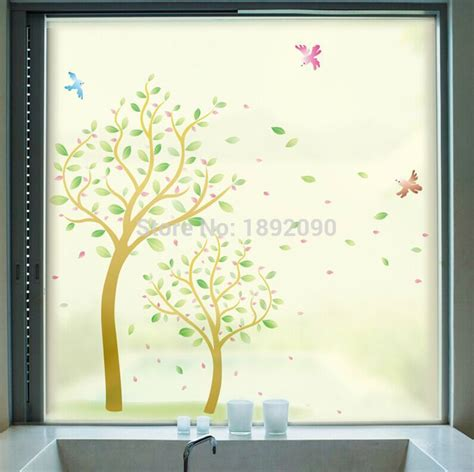 decorative window stickers for home frosted opaque decorative stained glass window film