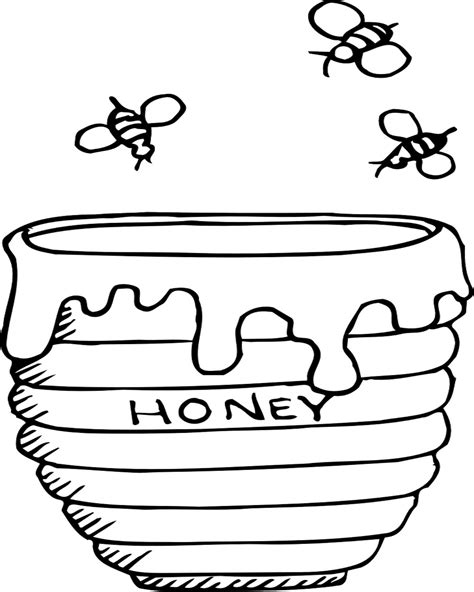 apple and honey coloring page coloring pages