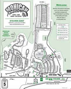 Mohican State Park Campground Map mohican adventures park map campground map and facilities