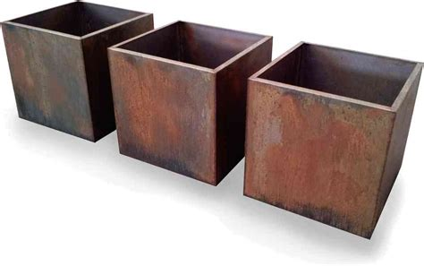 corten steel planters homesfeed