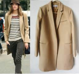 camel colored coat womens camel coat imitation wool coat fall winter
