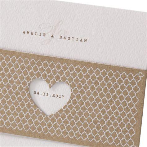 Hochzeitseinladung Deckblatt by Hochzeitseinladung Quot Elli Quot Mit Kraftpapier Banderole