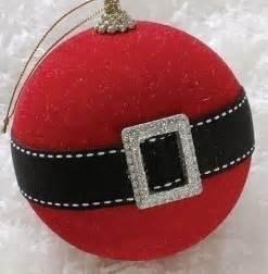 holiday cheer santa claus belt christmas ball ornament