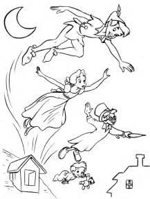 free disney peter pan coloring pages