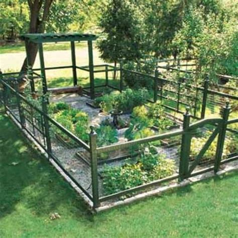 Vegetable Garden Fence Ideas The Interior Design Ideas For Fencing In A Garden