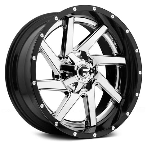 Wheels Fuel fuel 174 renegade 2pc forged center wheels black with chrome rims