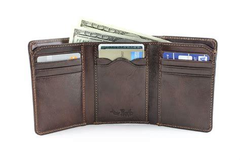 tony perotti prima tri fold wallet w id window handmade