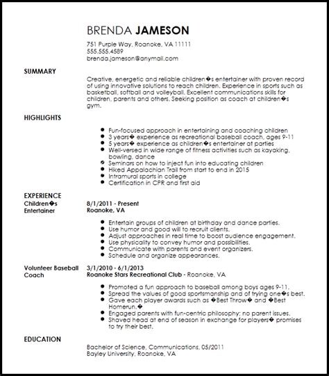 Coaching Resume Template by Free Creative Sports Coach Resume Template Resumenow