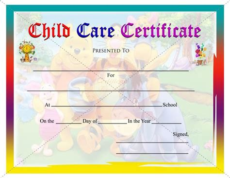 free childcare templates 78 images about certificates on gift