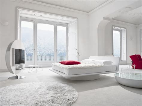 White Bedroom Decor | leather bed for white bedroom design giotto by bonaldo