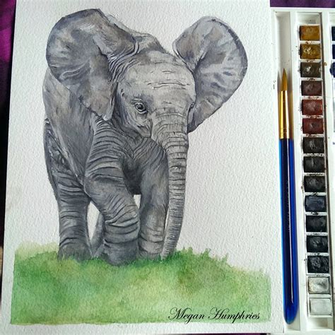 baby elephant painting by stardust12345 on deviantart