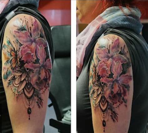 mandala blumen tattoo aveleen blumen aquarell dotwork mandala tattoos von