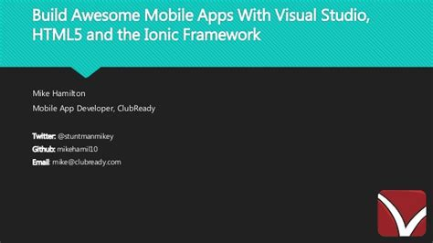 learning ionic build hybrid mobile applications with html5 arvind build awesome mobile apps with visual studio html5 and