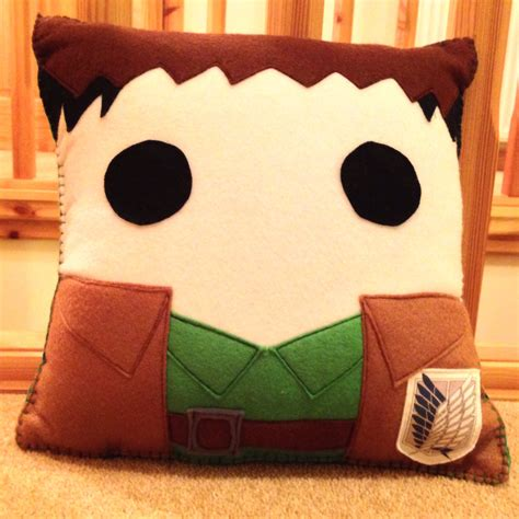 Attack On Titan Pillow by Jean Kirstein Themed Attack On Titan Pillow By