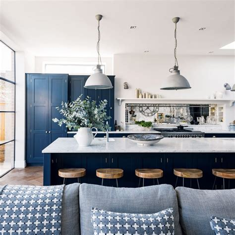 navy blue and gold kitchen navy kitchen ideas ideal home