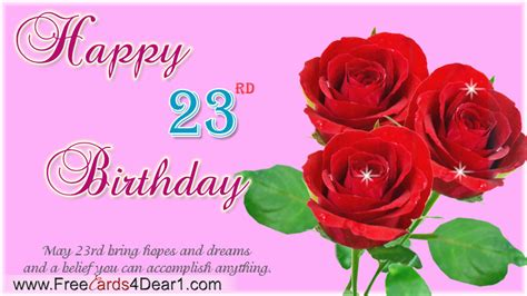 Happy Birthday Quotes 23 Years 23rd Birthday Quotes Quotesgram