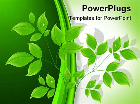 templates powerpoint ecology abstract art design floral ecology background vector