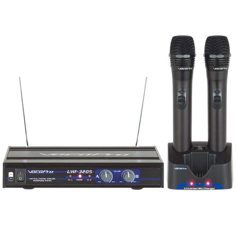Waireless Microphone Uhf 800 Vocopro Uhf 3205 Uhf Dual Channel Rechargeable Wireless