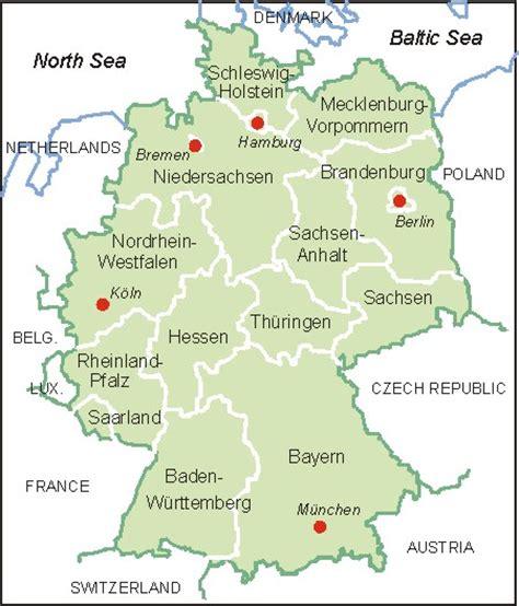 mapa deutschland landkarte deutschland karte brd