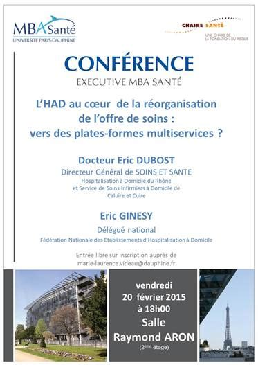 Mba Media And Entertainment Conference by Conf 233 Rences Mba Cahire Sant 233 Quot Chaire Sant 233 Dauphine