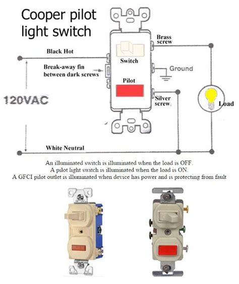 how to wire pilot light switch electrical info pics non