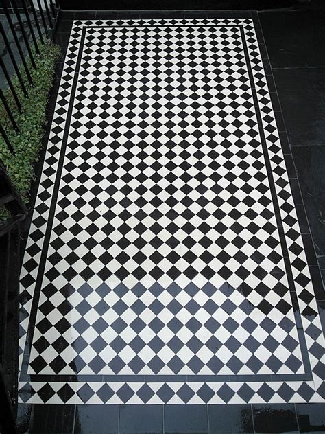 victorian black and white mosaic tile path blackheath london garden blog