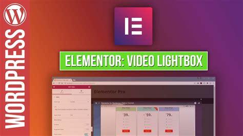tutorial lightbox wordpress elementor for wordpress video lightbox tutorial youtube