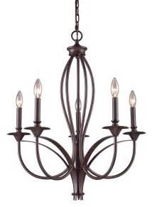 Iron Lighting Chandeliers Buy 5 Light Wrought Iron Chandelier In Bronze Finish