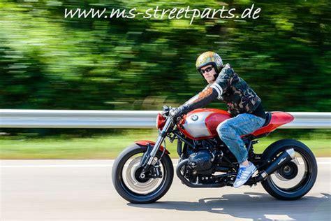 Ms Motorrad Shop by Probefahrt Mit Dem Bmw R Ninet Umbau Red Orange Ms