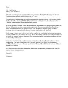Acknowledgement Of Resignation Letter by Exle Resignation Acknowledgment