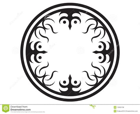 tribal circle tattoo circle tribal royalty free stock photos image