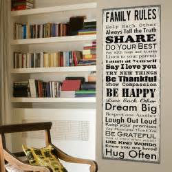 Family Rules Wall Sticker Family Rules Wall Canvas Traditional Novelty Signs