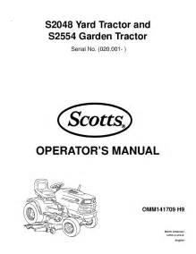 scotts lawn mower s2048 s2554 user s guide manualsonline