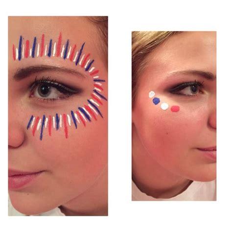 Make Up Cool For School high school football spirit paint war paint day