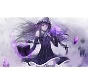 Anime Girl Anima Book Gray Purple Sexy