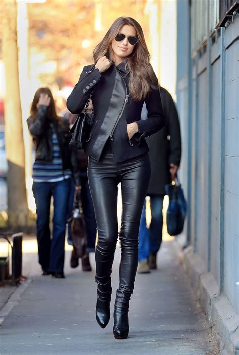 boots leather jacket black
